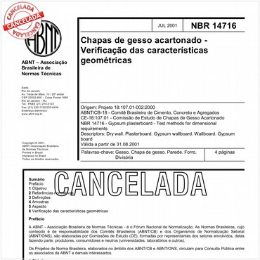 NBR14716 de 07/2001
