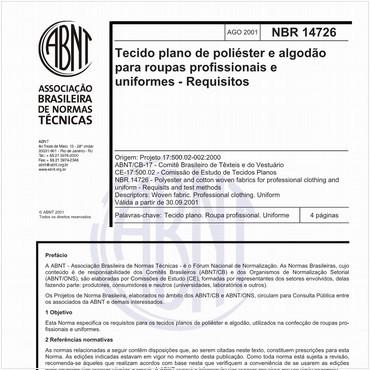 NBR14726 de 08/2001