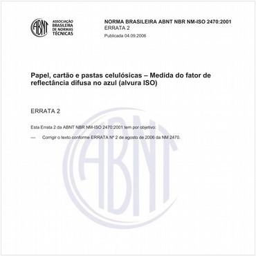 NBRNM-ISO2470 de 08/2001