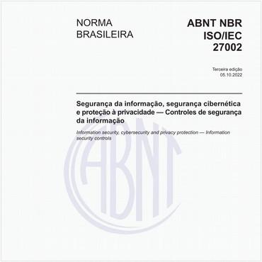NBRISO/IEC27002 de 11/2013