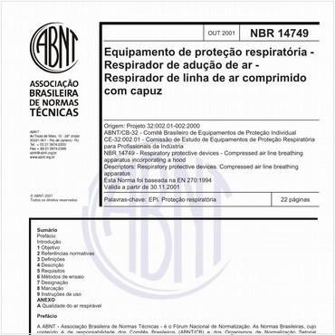 NBR14749 de 10/2001
