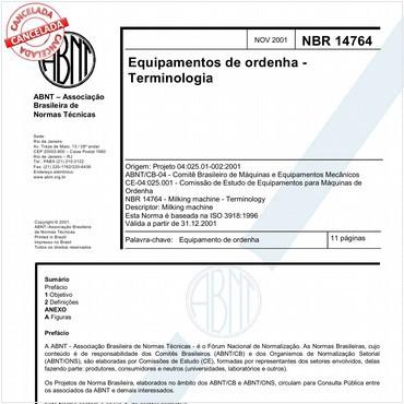 NBR14764 de 11/2001