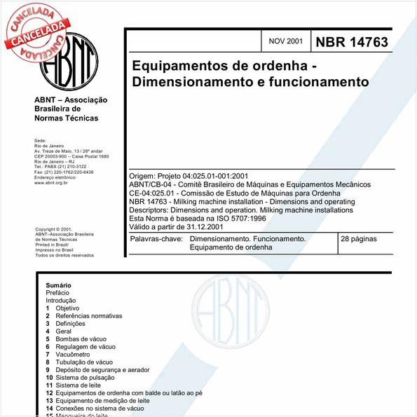 NBR14763 de 11/2015