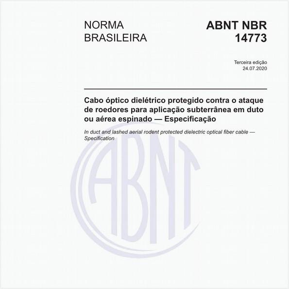 Cabo óptico dielétrico protegido contra o ataque de roedores para aplicação subterrânea em duto ou aérea espinado — Especificação