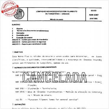 NBR5387 de 01/1985