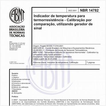 NBR14782 de 12/2001