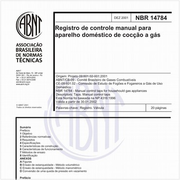 NBR14784 de 12/2001
