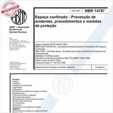 NBR14787 de 12/2001