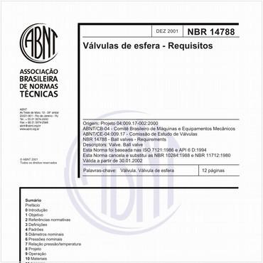 NBR14788 de 12/2001