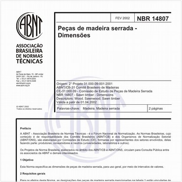 NBR14807 de 02/2002