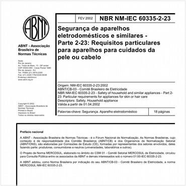 NBRNM-IEC60335-2-23 de 02/2002