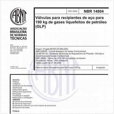 NBR14804 de 02/2002