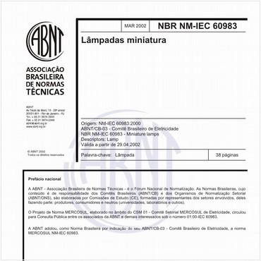 NBRNM-IEC60983 de 03/2002