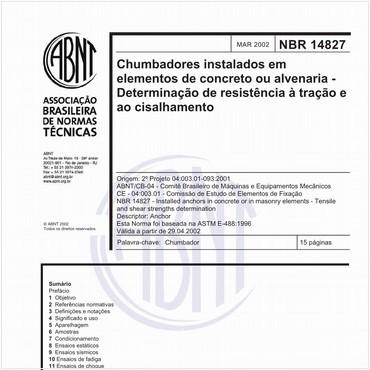 NBR14827 de 03/2002