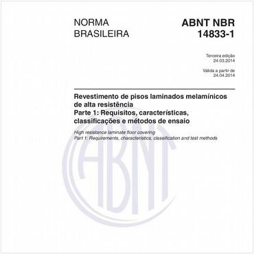 NBR14833-1 de 03/2014