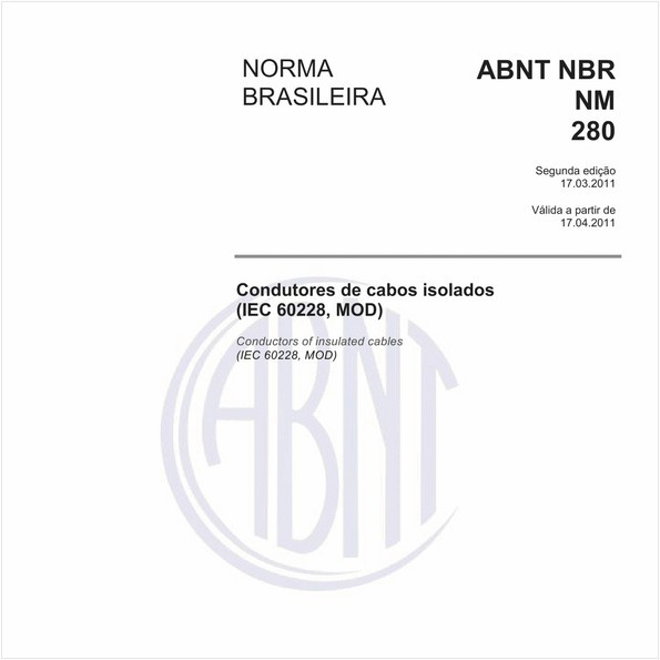Condutores de cabos isolados (IEC 60228, MOD)