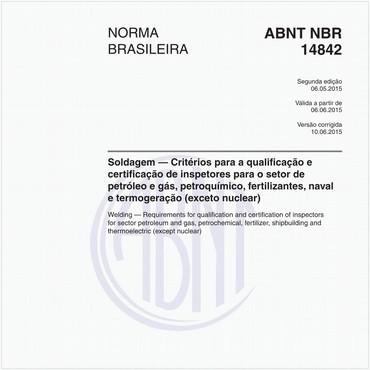NBR14842 de 05/2015
