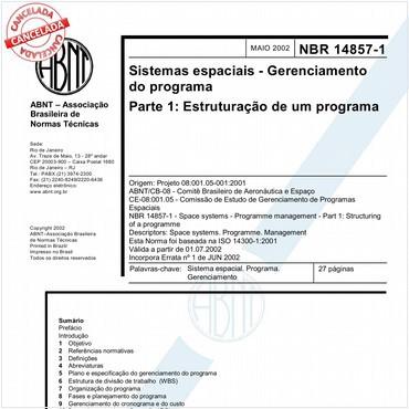 NBR14857-1 de 05/2002