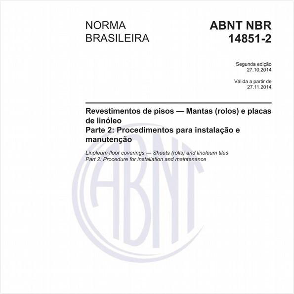 NBR14851-2 de 10/2014
