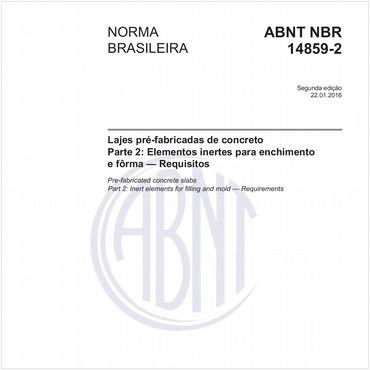 NBR14859-2 de 01/2016