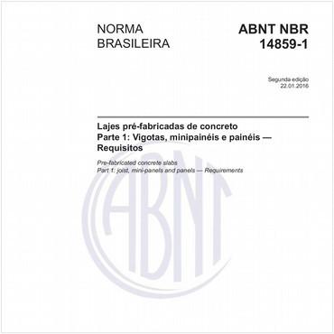 NBR14859-1 de 01/2016