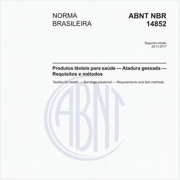 NBR14852 de 11/2017