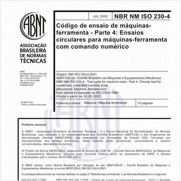 NBRNM-ISO230-4 de 07/2002