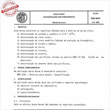 NBR6639 de 07/1985
