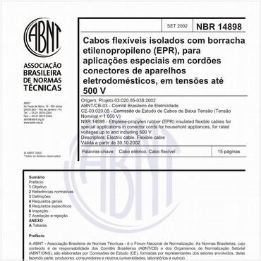 NBR14898 de 09/2002