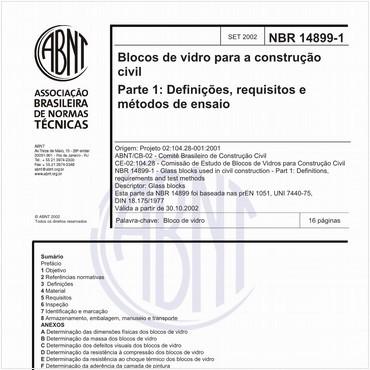 NBR14899-1 de 09/2002