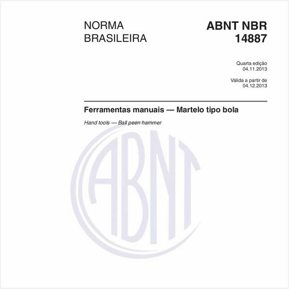 NBR14887 de 11/2013