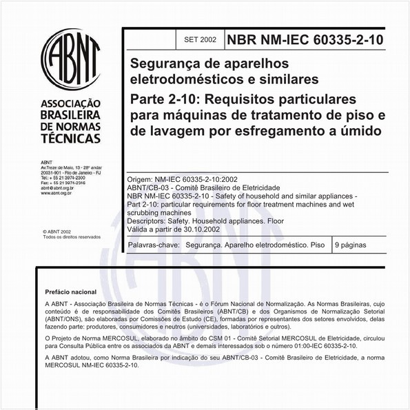 NBRNM-IEC60335-2-10 de 09/2002