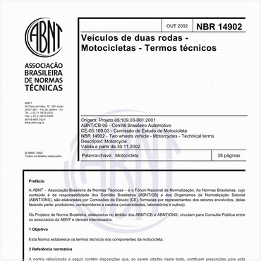 NBR14902 de 10/2002