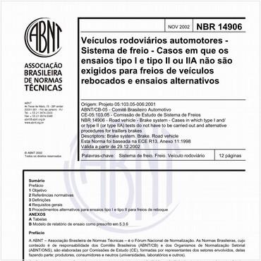 NBR14906 de 11/2002
