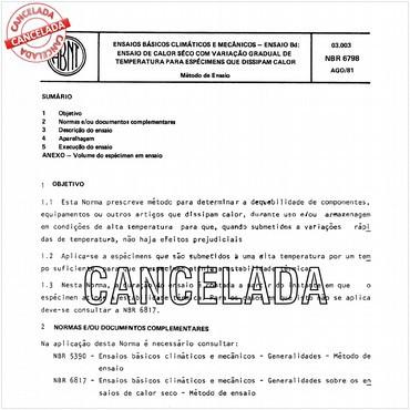 NBR6798 de 08/1981