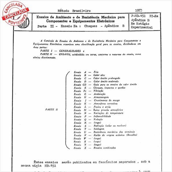 Ensaios de ambiente e de resistência mecânica para componentes e equipamentos eletrônicos - Parte II - Ensaio Ea: Choques - Apêndice B