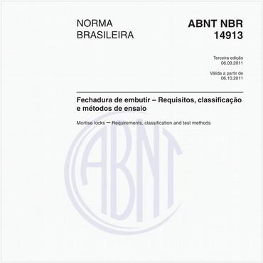 NBR14913 de 09/2011