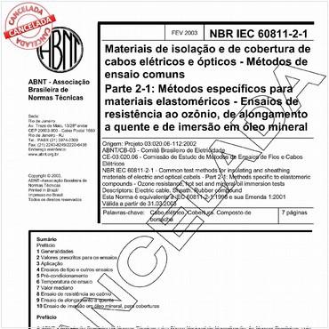 NBRIEC60811-2-1 de 02/2003