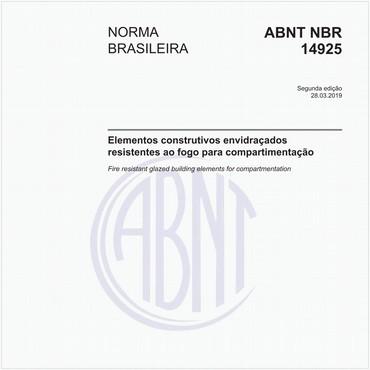 NBR14925 de 03/2019