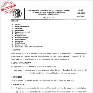 NBR5395 de 11/1985