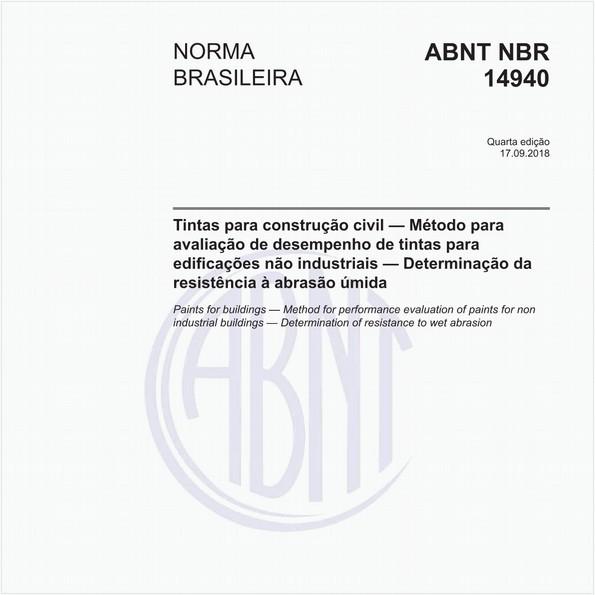 Tintas para construção civil — Método para avaliação de desempenho de tintas para edificações não industriais — Determinação da resistência à abrasão úmida