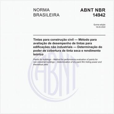 NBR14942 de 09/2019