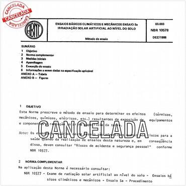 NBR10578 de 12/1988