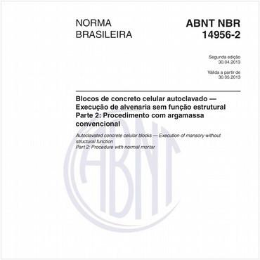 NBR14956-2 de 04/2013