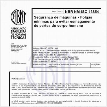 NBRNM-ISO13854 de 05/2003
