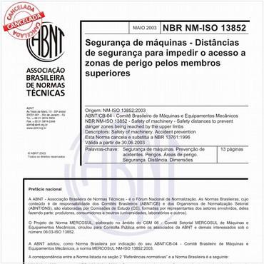 NBRNM-ISO13852 de 05/2003