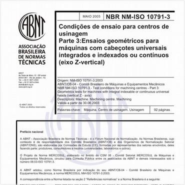 NBRNM-ISO10791-3 de 05/2003
