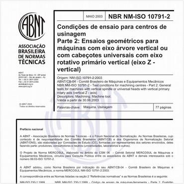 NBRNM-ISO10791-2 de 05/2003