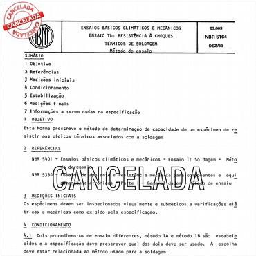 NBR5164 de 12/1980