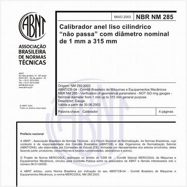 NBRNM285 de 05/2003